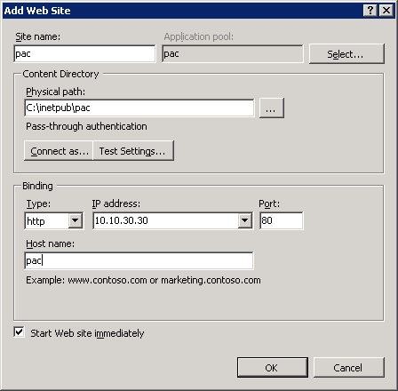 Setting up Proxy  pac files in IIS7 for proxy use – Marc Kean
