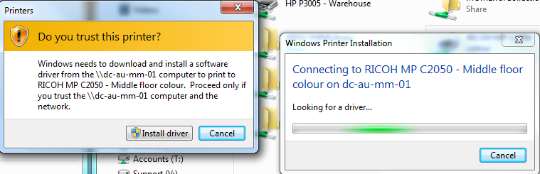 Printers not installing on Windows 7 – Marc Kean