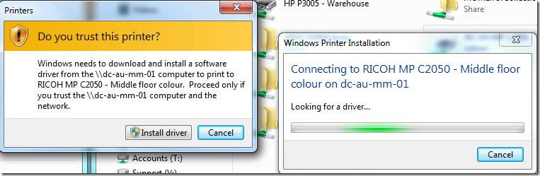 Coupons com printer not installing