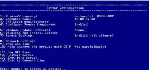 Windows Server 2012 Hyper-V server command line configuration – RDB