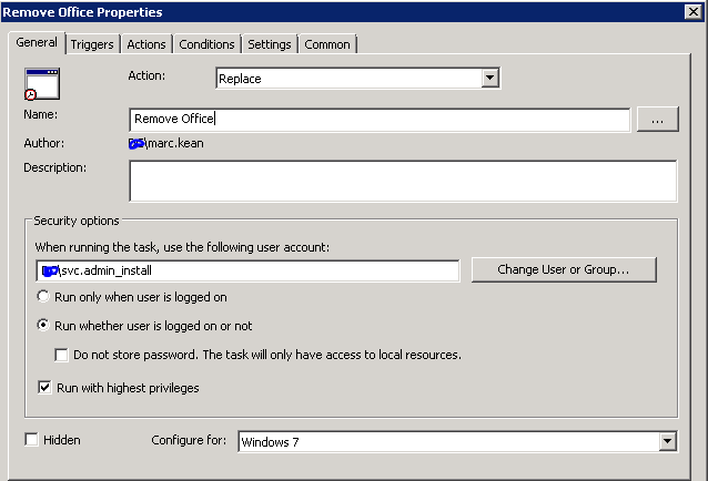 office 2016 removal tool script