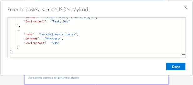 20181103 JSON payload schema